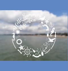 nautical sea composition vector image vector image