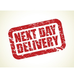 next day delivery vector image