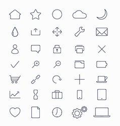 set of mobile icons vector image vector image