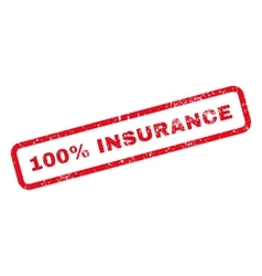 100 Percent Insurance Text Rubber Stamp vector