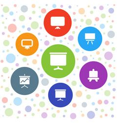7 result icons vector image