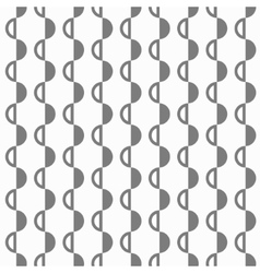 Abstract black and white pattern with semispheres vector image