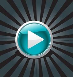 abstract play button design vector image