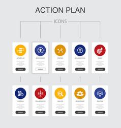 Action plan infographic 10 steps ui design vector