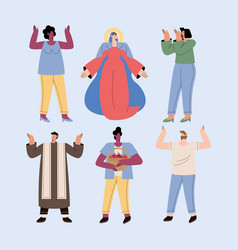 Assumption mary and people set vector