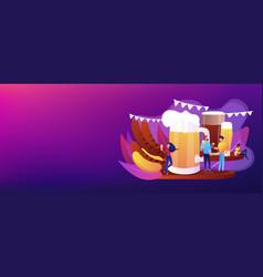 beer fest concept banner header vector image