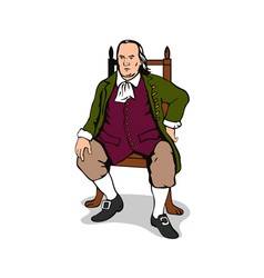 Ben Franklin Sitting Retro vector