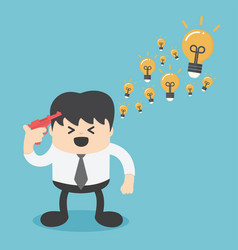 businessman brilliant idea vector image