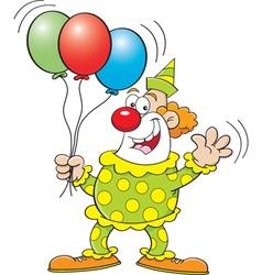 Cartoon Clown with Balloons vector image