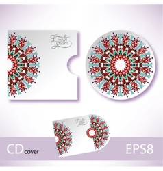 CD cover violet colour design template vector