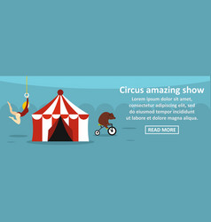 Circus amazing show banner horizontal concept vector