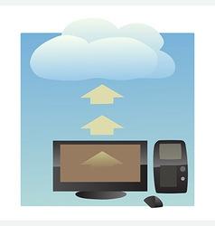 Cloud uploading vector
