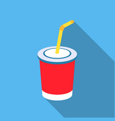 coca-cola icon in flat style for web vector image