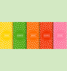 collection colorful seamless simple vector image