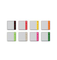 Colorful fast food or restaurant social media vector