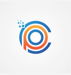 Cpo initial letter for your best business symbol vector