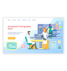Ct computed tomography scanning clinic website vector