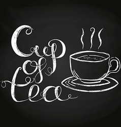 Cup Of Tea Lettering vector image