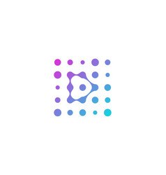 D letter dot logo icon design vector