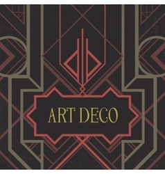 Dark artdeco abstract geometric background vector