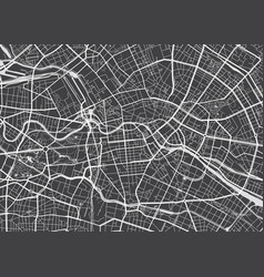 Detailed map berlin vector