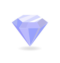 diamond of blue color poster vector image