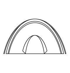 dome tent icon outline style vector image