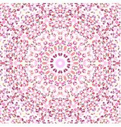 Dynamic colorful petal mosaic pattern mandala vector