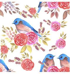Eastern bluebird or sialia sialis couple on vector