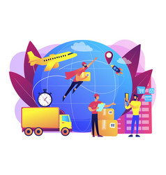 Express delivery service concept vector