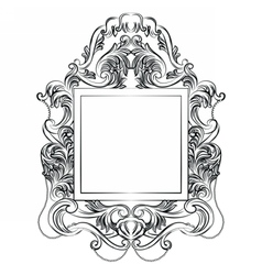 Exquisite fabulous imperial baroque mirror frame vector
