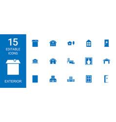 Exterior icons vector