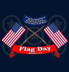 Flag day banner poster for june 14 birthday of vector
