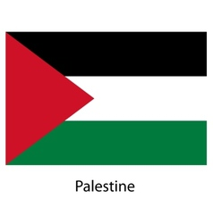 Flag of the country palestine vector