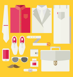 Flat business collection dress vector