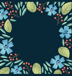 floral background frame vector image