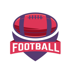 football emblem template with american vector image