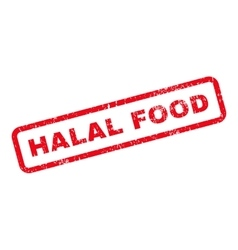 Halal Food Text Rubber Stamp vector image