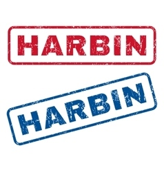 Harbin Rubber Stamps vector image