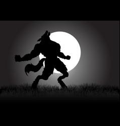 Howling werewolf vector