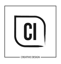 initial letter ci logo template design vector image