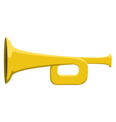 isolated trumpet musical instrument icon vector image