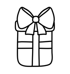 line present gift box with ribbon bow vector image