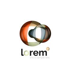 Logo abstract geometric icon vector