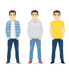 Man casual clothers vector