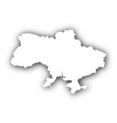 map of ukraine with shadow vector image