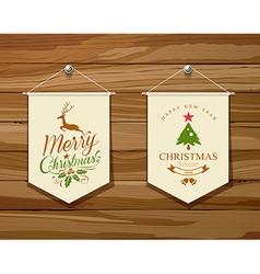 Merry Christmas flag concepts design set vector image