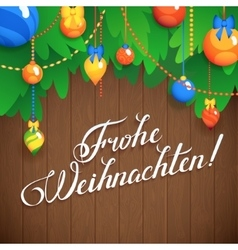MERRY CHRISTMAS inscription in German language vector