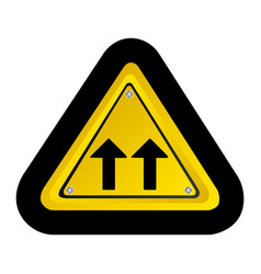 metal emblem warning sign icon vector image