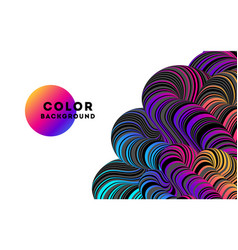 modern abstract design background rainbow flow vector image